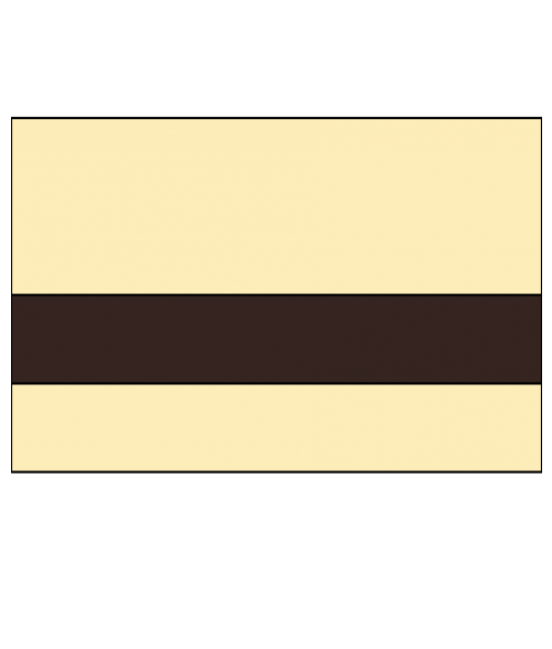 """Rowmark LaserMax Ivory/Dark Brown 1/16"""" Engraving Plastic"""