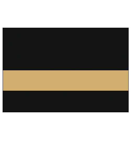 "Rowmark LaserMax Gloss Black/Gold 1/16"" Engraving Plastic"