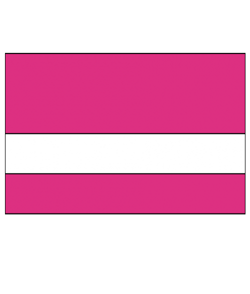 "Rowmark LaserMax Ribbon Pink/White 1/16"" Engraving Plastic"