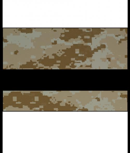 "Rowmark LaserMax Digicam Desert Storm/Black 1/16"" Engraving Plastic"