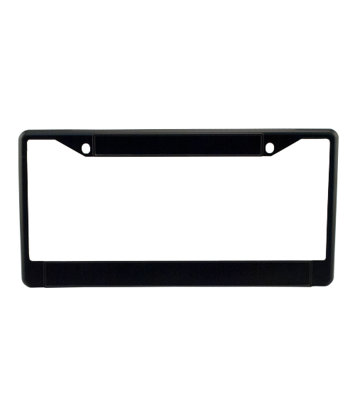 Black Metal License Plate Frame