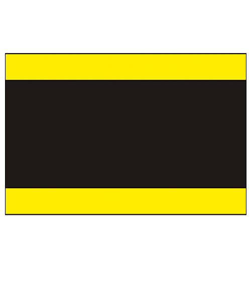 "IPI Laserables Matte Yellow/Black/Yellow 1/16"" Engraving Plastic"