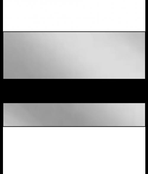 "IPI Laserthin Gloss Bright Silver/Black 1/32"" Engraving Plastic"