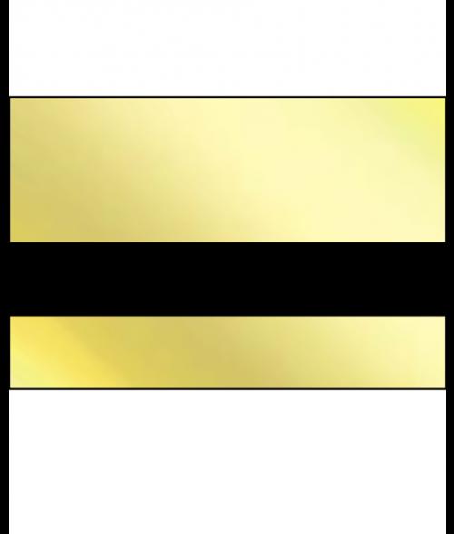 "IPI Laserthin Gloss Bright Gold/Black 1/32"" Engraving Plastic"