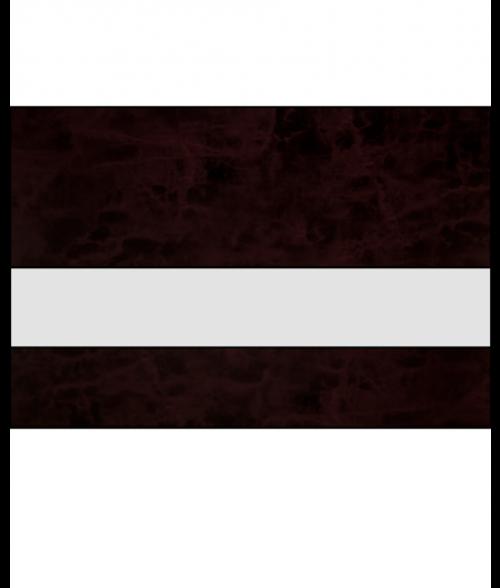 "IPI Gemstones Gloss Clear/Sienna Red 1/16"" Reverse Engraving Plastic"