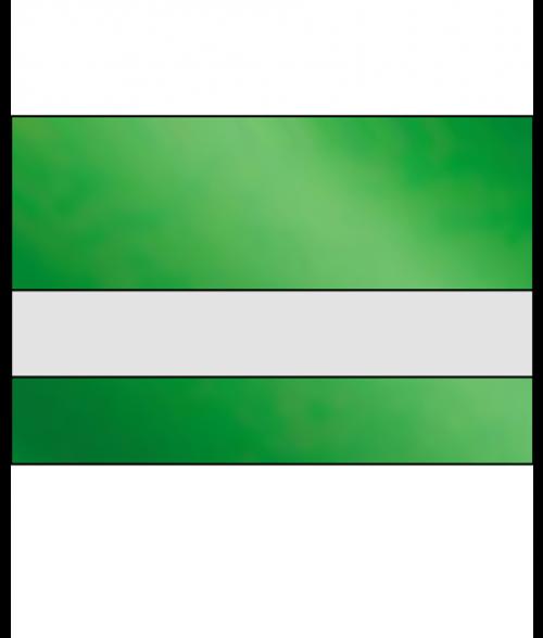 "IPI LazerMirr Gloss Clear/Green Mirror 3/32"" Reverse Engraving Plastic"