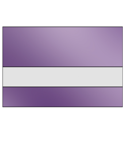"IPI LazerMirr Gloss Clear/Purple Mirror 3/32"" Reverse Engraving Plastic"