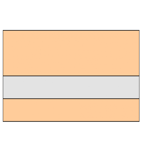 "IPI Laserables Matte Clear/Apricot 1/16"" Reverse Engraving Plastic"