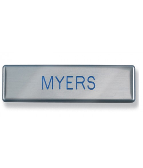 "Satin Silver 3/4"" x 3"" USAF Metal Name Tag with Clutch Back"