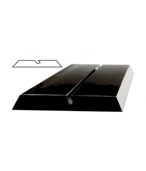 "JRS Black 10"" #P100 Plastic Desk Base with 1/16"" Slot"