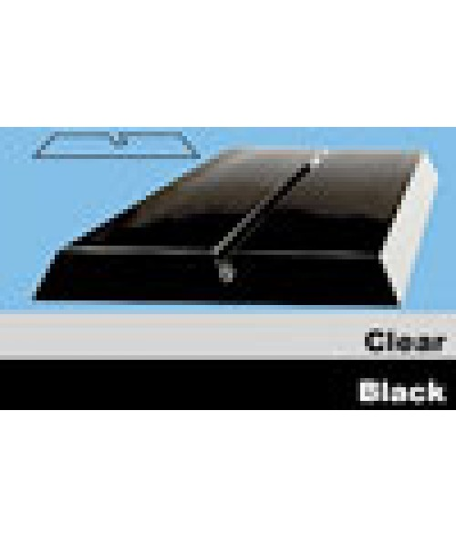 "JRS Black 8"" #P100 Plastic Desk Base with 1/16"" Slot"