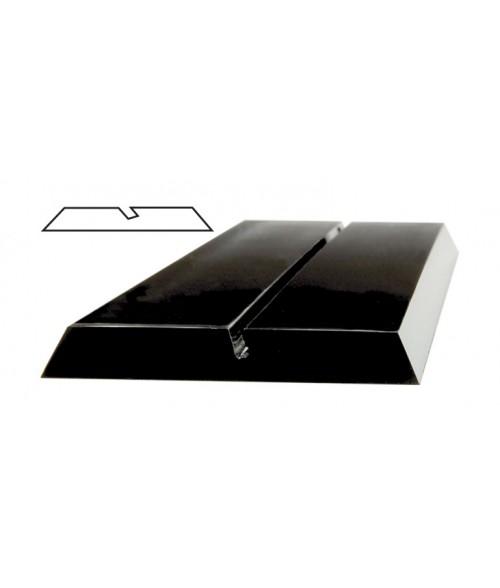 "JRS Black 8"" #P100 Plastic Desk Base with 1/16"" Slot"
