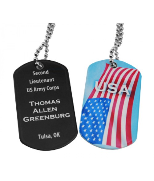 White Military Dog Tag (2 Sided)