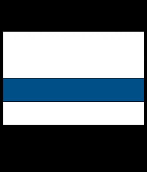 "Rowmark Printmark Gloss Polar White/Blue 1/16"" Engraving Plastic for ID Card Printers"