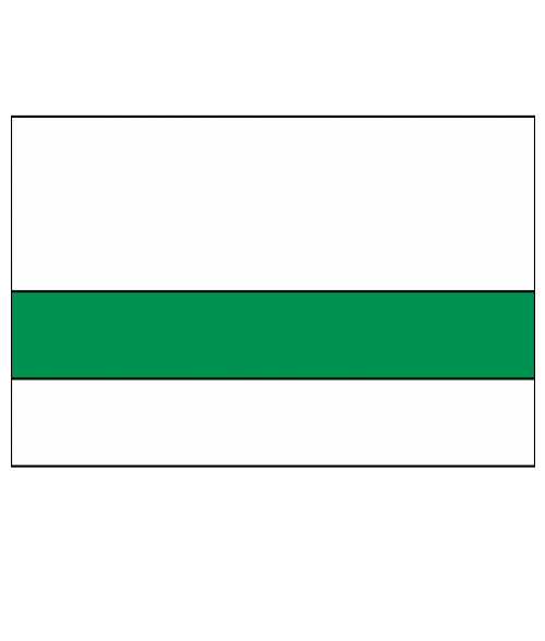 "Rowmark Printmark Gloss Polar White/Green 1/16"" Engraving Plastic for ID Card Printers"