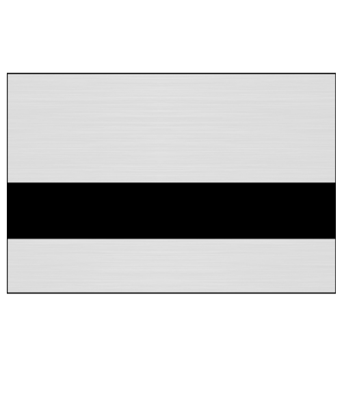 "Rowmark Printmark II Brushed Aluminum/Black .052"" Engraving Plastic for ID Card Printers"