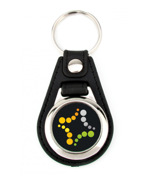 Punch'nPress Black 25mm Teardrop Key Chain