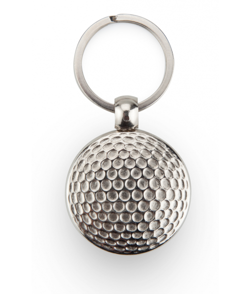 Punch'nPress Silver 30mm Golf Ball Key Chain