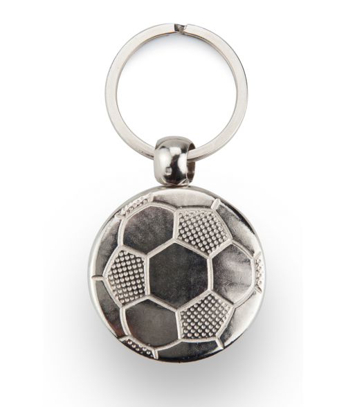 Punch'nPress Silver 30mm Soccer Ball Key Chain