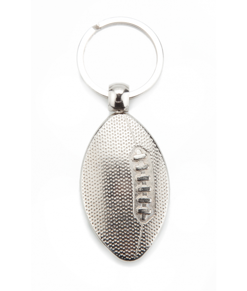 Punch'nPress Silver Football Key Chain