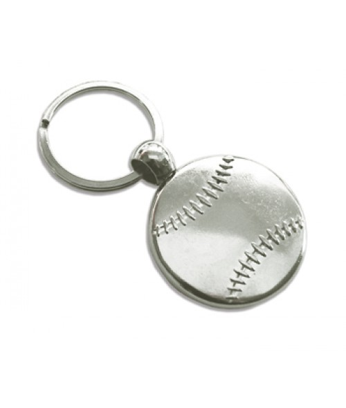Punch N Press Silver 30mm Baseball Key Chain