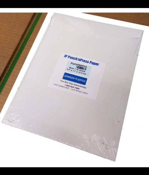 "Punch'nPress Glossy 8.5"" x 11"" Paper"