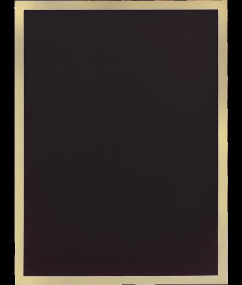 "Simplicity Series Black 5"" x 7"" Plaque Plate"