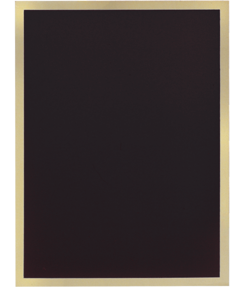 "Simplicity Series Black 6"" x 8"" Plaque Plate"