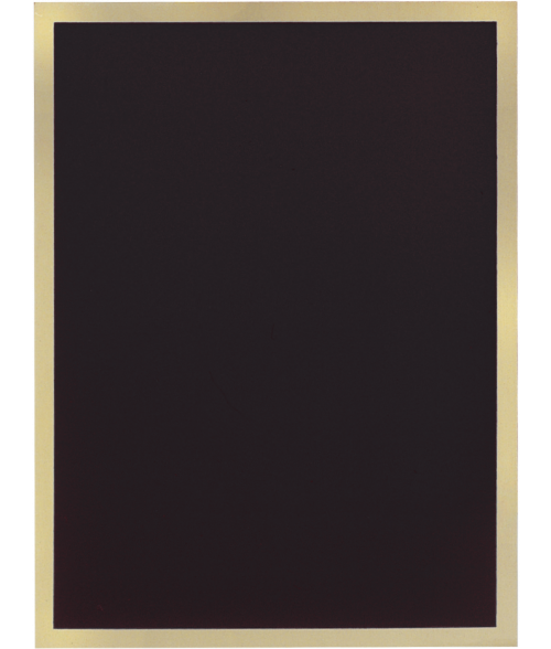 "Simplicity Series Black 7"" x 10"" Plaque Plate"