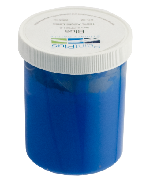 Rowmark PaintPlus Blue 8oz Primary Paint Fill