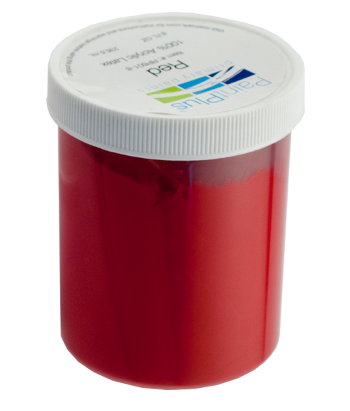 Rowmark PaintPlus Red 8oz Primary Paint Fill