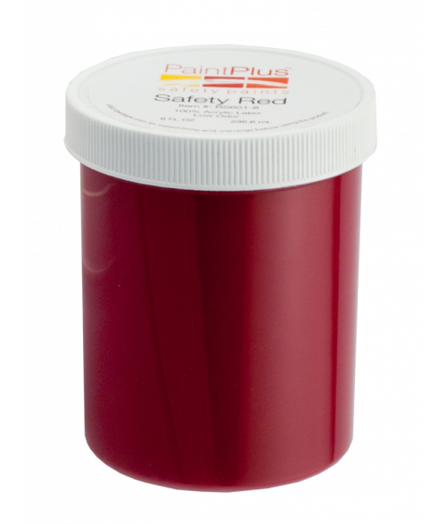 Rowmark PaintPlus Safety Red 8oz Paint Fill