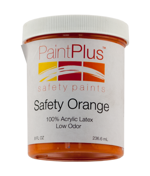 Rowmark PaintPlus Safety Orange 8oz Paint Fill