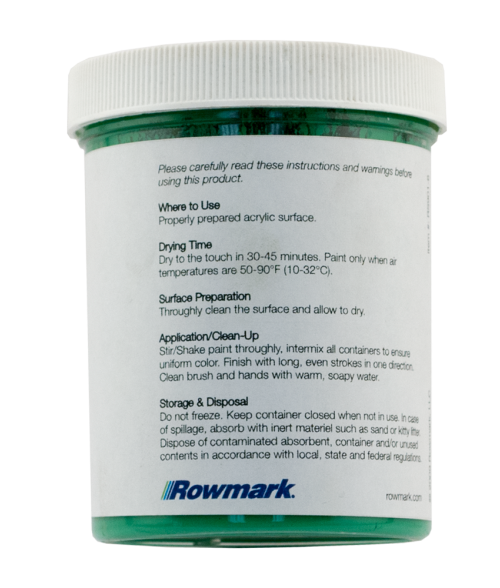 Rowmark PaintPlus Safety Green 8oz Paint Fill