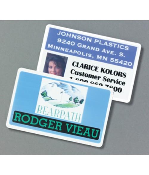 "IPI Silver 2.5"" x 3.7"" .060"" Print Receptive Blank PVC Card"