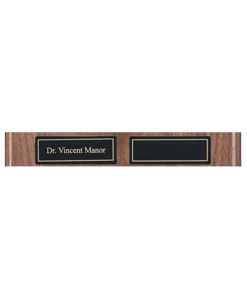 "Black 1"" x 3"" Replacement Plates for Perpetual Plaques"