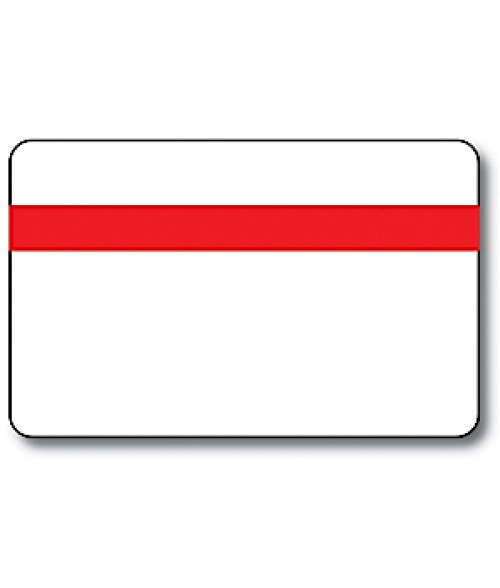 "IPI Printables Plus White/Red/White .044"" Engravable Print Receptive Blank Card"