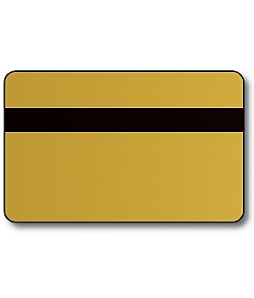 "IPI Printables Plus Brushed Gold/Black .044"" Engravable Print Receptive Blank Card"