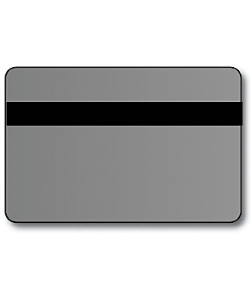 "IPI Printables Plus Brushed Silver/Black .044"" Engravable Print Receptive Blank Card"