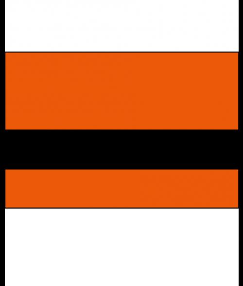 "IPI Reflectors Orange/Black 1/16"" Engraving Plastic"