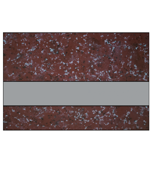 "IPI Architectural Stones Gloss Wild Cranberry Marble/Pewter 1/16"" Engraving Plastic"