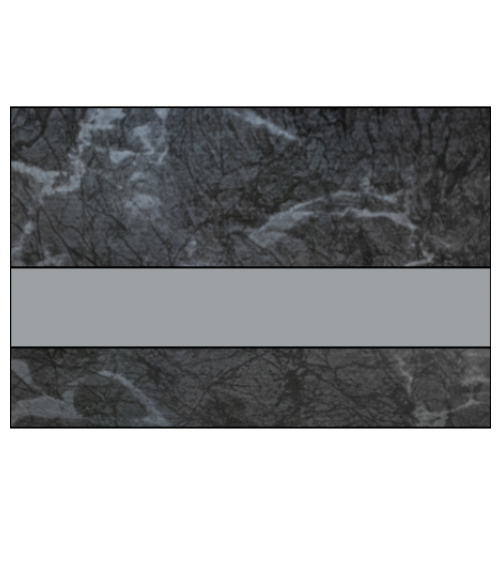 "IPI Architectural Stones Gloss Black Onyx Granite/Pewter 1/16"" Engraving Plastic"