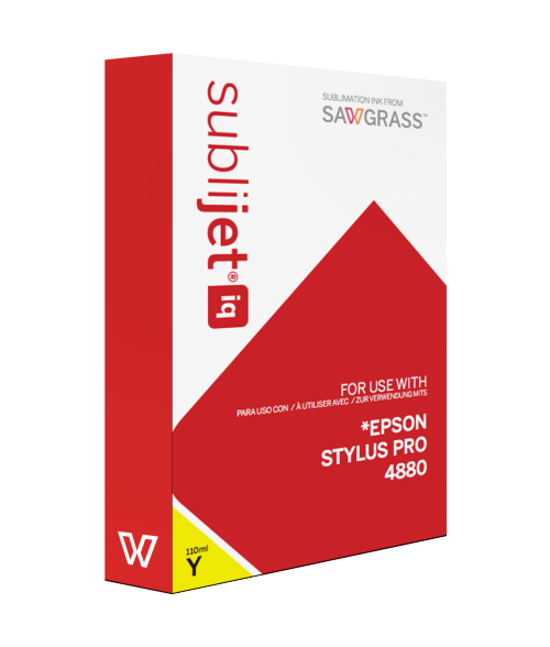 Sawgrass Sublijet-IQ Yellow 110ml Ink Cartridge (Epson 4880)