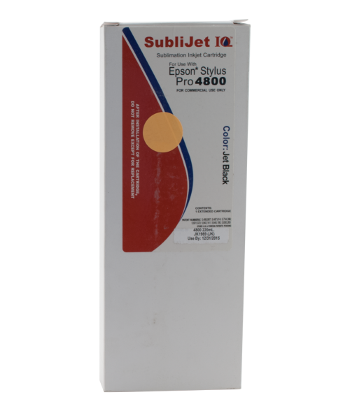 Sawgrass Sublijet-IQ Black 220ml Ink Cartridge (Epson 4800)
