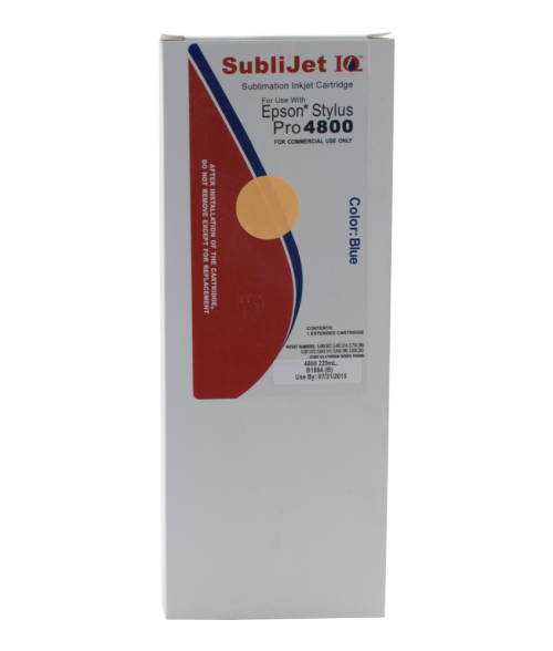 Sawgrass Sublijet-IQ Blue 220ml Ink Cartridge (Epson 4800)