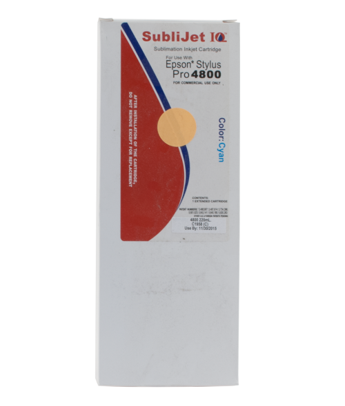 Sawgrass Sublijet-IQ Cyan 220ml Ink Cartridge (Epson 4800)
