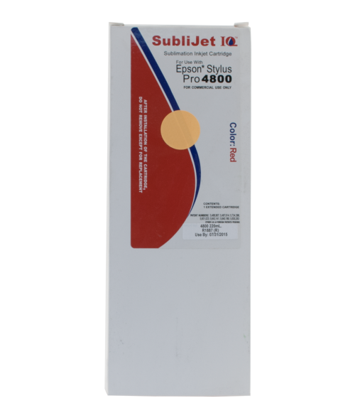 Sawgrass Sublijet-IQ Red 220ml Ink Cartridge (Epson 4800)