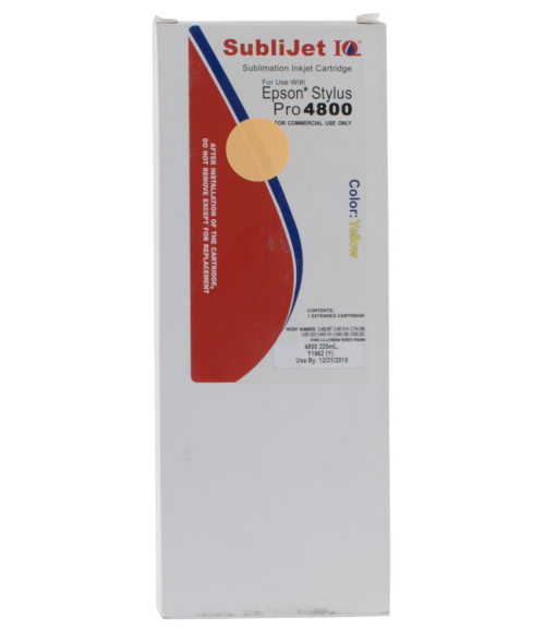 Sawgrass Sublijet-IQ Yellow 220ml Ink Cartridge (Epson 4800)