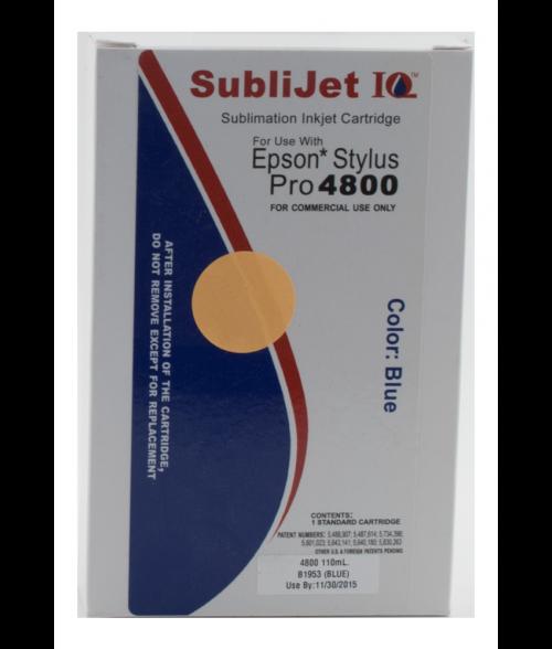 Sawgrass Sublijet-IQ Blue 110ml Ink Cartridge (Epson 4800)