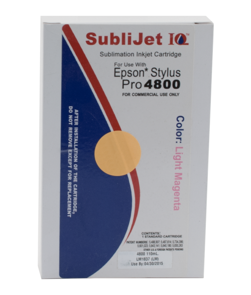 Sawgrass Sublijet-IQ Light Magenta 110ml Ink Cartridge (Epson 4800)